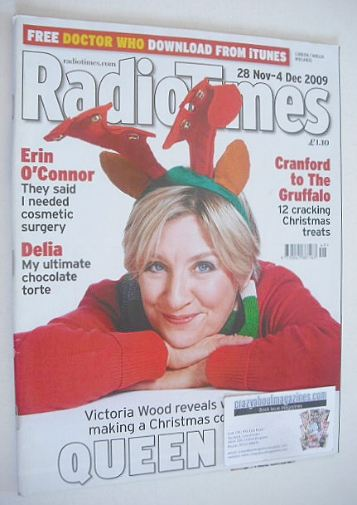<!--2009-11-28-->Radio Times magazine - Victoria Wood cover (28 November -