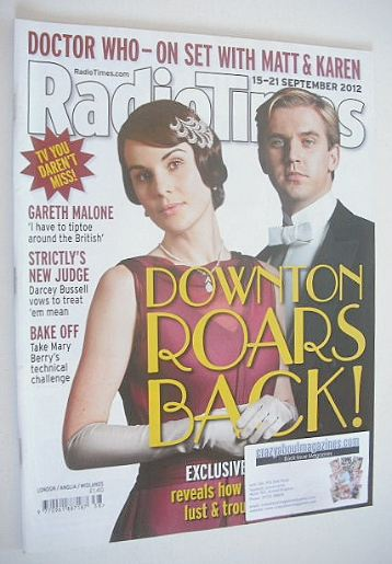 <!--2012-09-15-->Radio Times magazine - Downton cover (15-21 September 2012