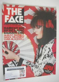 The Face magazine - Siouxsie Sioux cover (February 1982 - Issue 22)