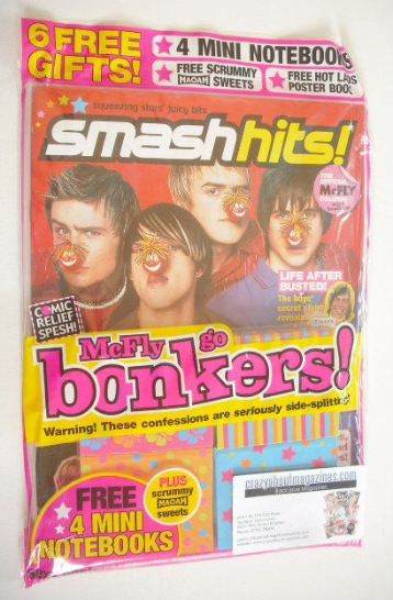 <!--2005-03-02-->Smash Hits magazine - McFly cover (2-15 March 2005)