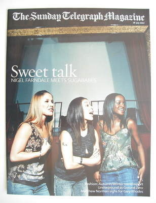 The Sunday Telegraph magazine - Sugababes cover (28 July 2002)