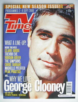 <!--2000-09-02-->TV Times magazine - George Clooney cover (2-8 September 20