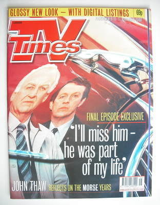 <!--2000-11-11-->TV Times magazine - John Thaw and Kevin Whately cover (11-
