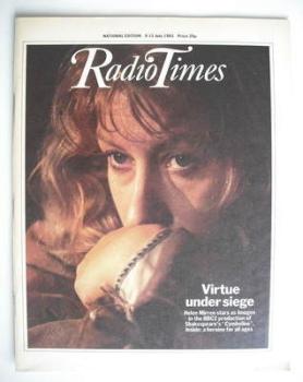 Radio Times magazine - Helen Mirren cover (9-15 July 1983)