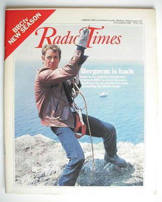 <!--1983-01-08-->Radio Times magazine - John Nettles cover (8-14 January 19