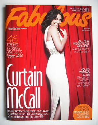 <!--2010-05-23-->Fabulous magazine - Davina McCall cover (23 May 2010)