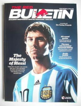 The Red Bulletin magazine - June 2010 - Lionel Messi cover