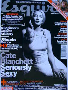 <!--2003-08-->Esquire magazine - Cate Blanchett cover (August 2003)