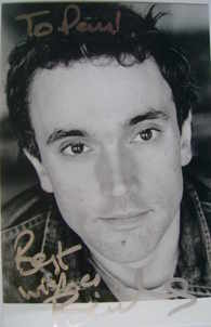Ben Miles autograph (hand-signed photograph, dedicated)