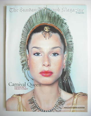 The Sunday Telegraph magazine - Carnival Queen cover (25 August 2002)