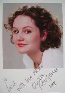 Chloe Newsome autograph (hand-signed photograph, dedicated)