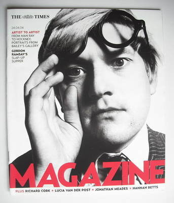 <!--2004-04-24-->The Times magazine - David Hockney cover (24 April 2004)