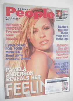 <!--2001-05-27-->Sunday People magazine - 27 May 2001 - Pamela Anderson cover