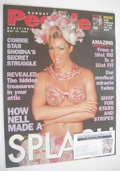 <!--2001-05-20-->Sunday People magazine - 20 May 2001 - Nell McAndrew cover