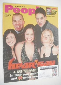 Sunday People magazine - 8 April 2001 - Hear'Say cover