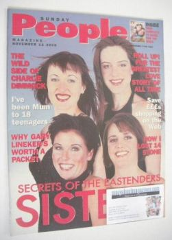 <!--2000-11-12-->Sunday People magazine - 12 November 2000 - The Slater sisters cover