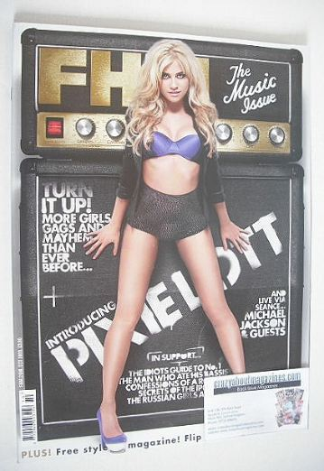 <!--2009-10-->FHM magazine - Pixie Lott cover (October 2009)