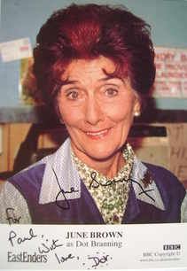 June Brown autograph (EastEnders actor)