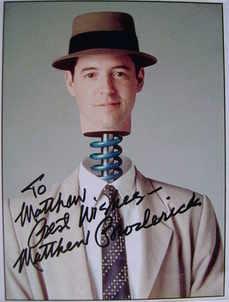 Matthew Broderick autograph