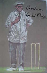Dickie Bird autograph