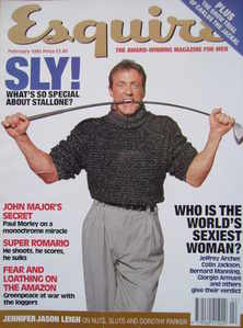 <!--1995-02-->Esquire magazine - Sylvester Stallone cover (February 1995)