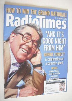 Radio Times magazine - Ronnie Corbett cover (9-15 April 2016)