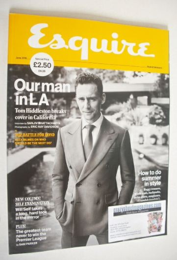 <!--2016-06-->Esquire magazine - Tom Hiddleston cover (June 2016)