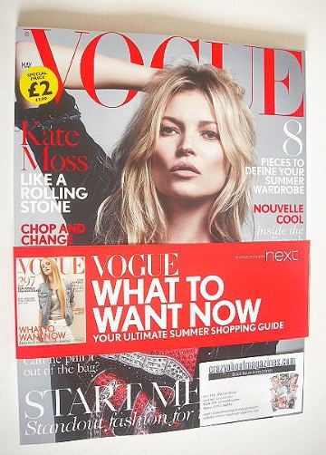 <!--2016-05-->British Vogue magazine - May 2016 - Kate Moss cover