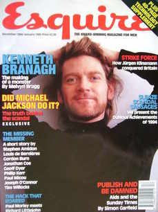 <!--1994-12-->Esquire magazine - Kenneth Branagh cover (December 1994/Janua