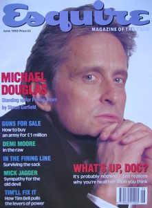 Esquire magazine - Michael Douglas cover (June 1993)