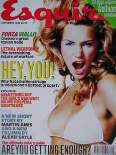 <!--1996-09-->Esquire magazine - Natasha Henstridge cover (September 1996)