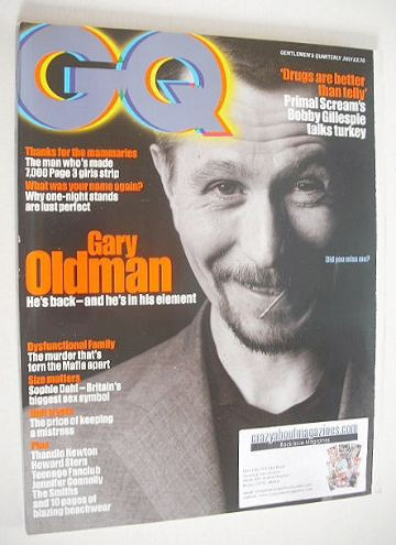 <!--1997-07-->British GQ magazine - July 1997 - Gary Oldman cover