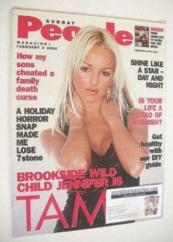 Sunday People magazine - 3 February 2002 - Jennifer Ellison cover