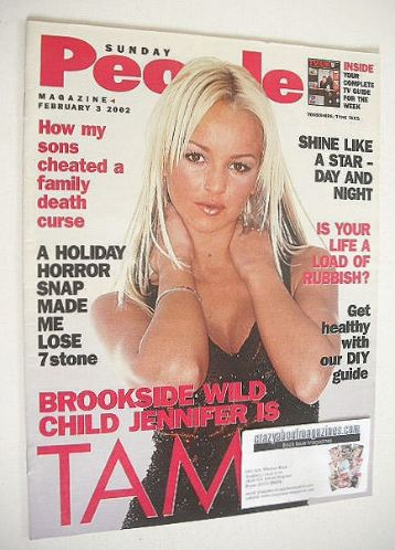 <!--2002-02-03-->Sunday People magazine - 3 February 2002 - Jennifer Elliso