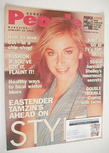 <!--2002-01-20-->Sunday People magazine - 20 January 2002 - Tamzin Outhwait