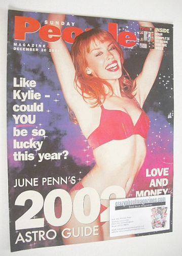 <!--2001-12-30-->Sunday People magazine - 30 December 2001 - Kylie Minogue