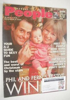 Sunday People magazine - 2 December 2001 - Phil Vickery and Fern Britton cover