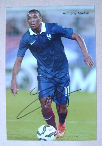 Anthony Martial autograph