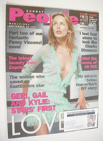<!--2001-09-30-->Sunday People magazine - 30 September 2001 - Kylie Minogue