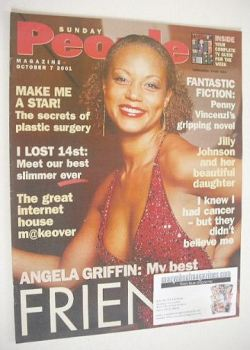 Sunday People magazine - 7 October 2001 - Angela Griffin cover