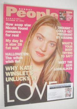 Sunday People magazine - 21 October 2001 - Kate Winslet cover