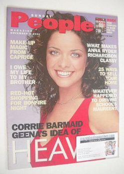 Sunday People magazine - 4 November 2001 - Jennifer James cover