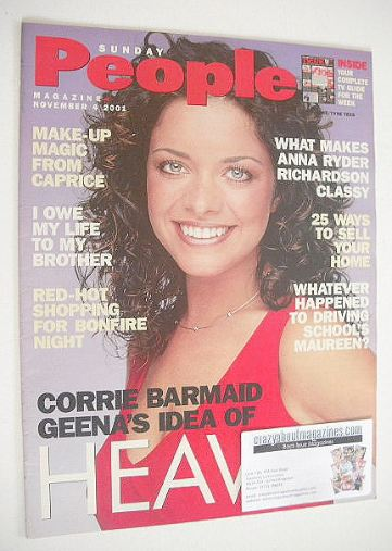<!--2001-11-04-->Sunday People magazine - 4 November 2001 - Jennifer James