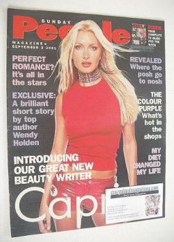 Sunday People magazine - 2 September 2001 - Caprice cover