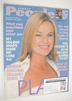 Sunday People magazine - 26 August 2001 - Amanda Holden cover