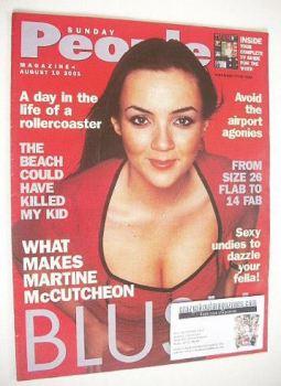 Sunday People magazine - 19 August 2001 - Martine McCutcheon cover