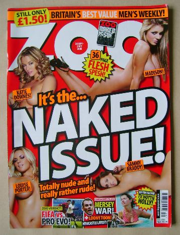 <!--2008-09-26-->Zoo magazine - 26 September - 2 October 2008