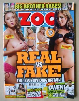 Zoo magazine - Real vs Fake cover (8-14 June 2007)