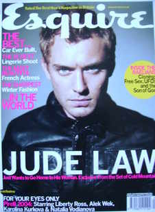 <!--2004-01-->Esquire magazine - Jude Law cover (January 2004)
