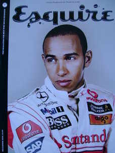 <!--2008-12-->Esquire magazine - Lewis Hamilton cover (December 2008 - Subs